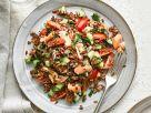 Warmer roter Reissalat mit Lachs Rezept