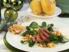 Weihnachtliche Entenbrust mit Senfvinaigrette und Rapunzel Rezept