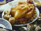 Weihnachtlicher Putenbraten mit Maroni und Äpfeln Rezept