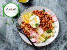 Weißer Spargel mit Kichererbsen und pochiertem Ei Rezept