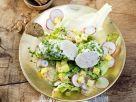 Weißwurst im Kräutermantel mit bayerischem Kartoffelsalat Rezept