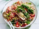 Weizen-Gemüse-Salat mit Halloumi und Erdbeeren Rezept