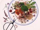 Wildreissalat im Blütenrausch Rezept