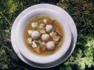 Wildsuppe mit Bohnen, Pilzen und Klößchen Rezept