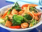 Wokgemüse mit Nudeln und Tofu Rezept