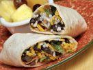 Wrap mit Käse, Reis und schwarzen Bohnen Rezept