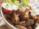 Würzige Chicken Wings mit Blattsalat Rezept