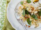 Zitronen-Pasta mit Basilikum und Pinienkernen Rezept