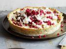 Zitroneneis-Kuchen mit Baiser und Granatapfel Rezept