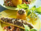 Zucchin und Tomaten mit Hackfleischfüllung Rezept