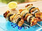 Zucchini-Fisch-Spieße auf griechische Art Rezept