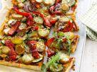 Zucchini-Paprika-Pizza mit Kartoffeln Rezept