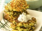 Zucchinipuffer mit Kräuterschmand Rezept