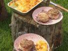 Zweierlei Fleisch vom Grill mit Kartoffelgratin Rezept